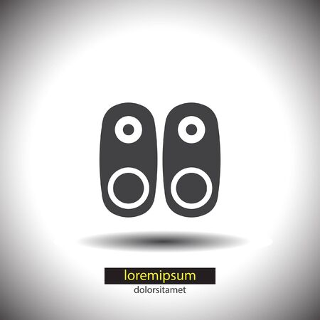 speakers: Audio Speakers vector icon