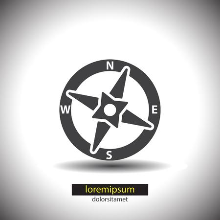 compass vector: Compass vector icon Illustration