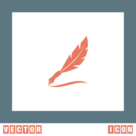 autograph: Feather Writing vector icon