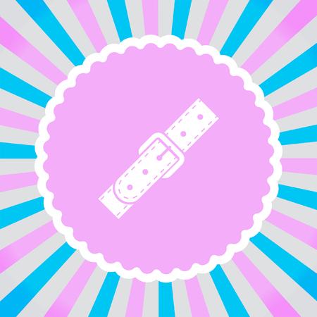 buckles: Strap vector icon