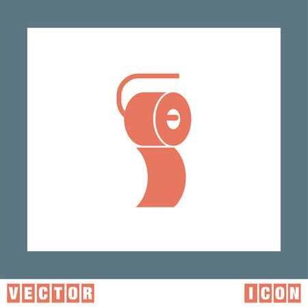 wipe: Toilet Paper vector icon Illustration