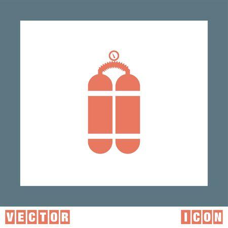 cilindro: El ox�geno del vector del icono del cilindro Vectores