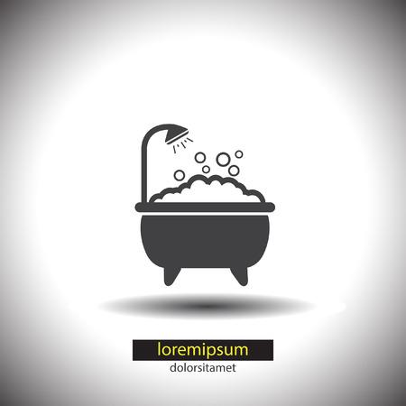 bathtub: Bathtub vector icon