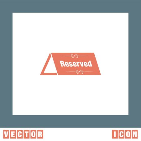 reservations: Reserved Table vector icon