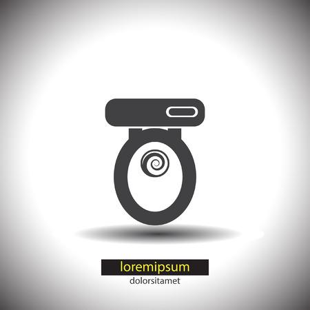 toilet seat: Toilet Seat vector icon