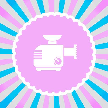 meat grinder: Meat Grinder Machine vector icon Illustration