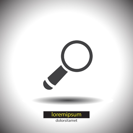 magnification icon: Magnifying Glass vector icon