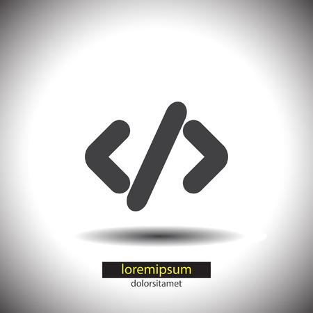 coding: Coding vector icon Illustration