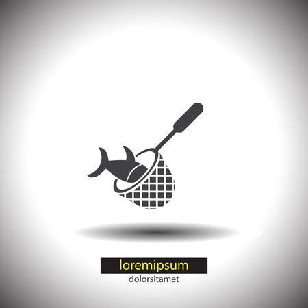 fishnet: Fishing Net vector icon