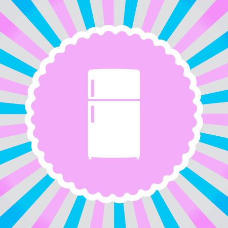 cold steel: Refrigerator vector icon