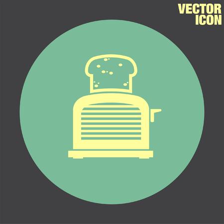 toaster: Toaster vector icon Illustration
