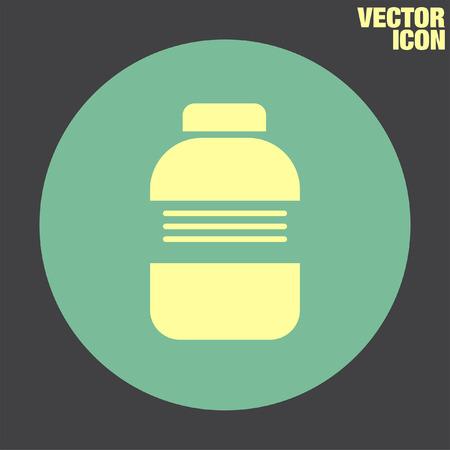 medical bottle: Medical Bottle vector icon Illustration