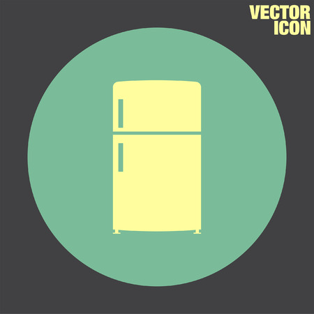 refrigeration: Refrigerator vector icon