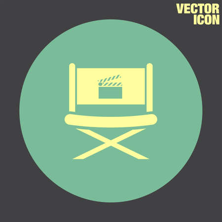 director chair: Cinema Director Chair vector icon