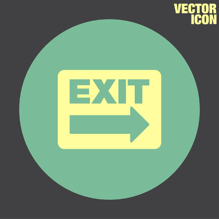 exit sign: Exit Sign vector icon