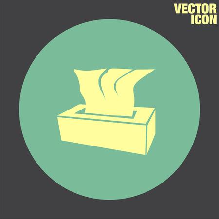 soft tissues: Tissue Napkin vector icon