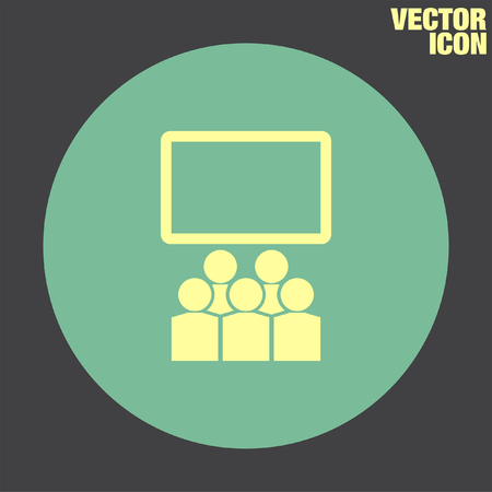 lecture room: Students in Classroom vector icon