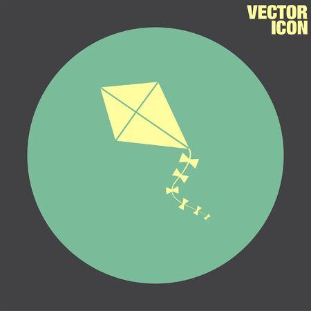 paper kites: Kid Kite vector icon