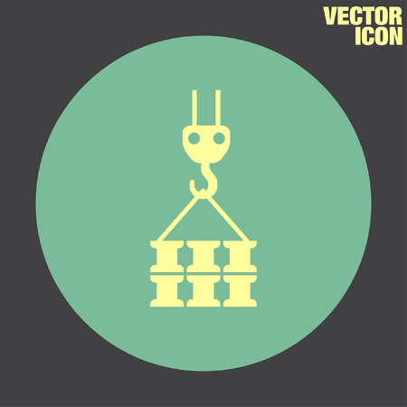 heavy construction: Construction Crane vector icon