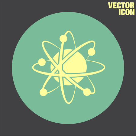 neutron: Atom Model vector icon