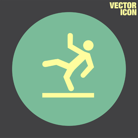 slippery: Slippery Wet Floor vector icon