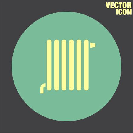 radiator: Radiador del icono del vector