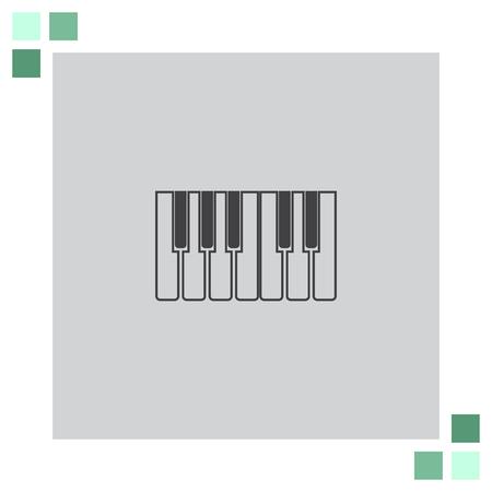 octave: Piano Keys vector icon