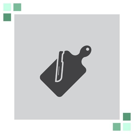 chops: Cutting Board vector icon Illustration