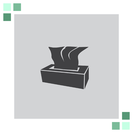 tissues: Tissue Napkin vector icon