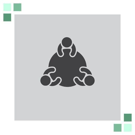 trabajo social: icono de vectores Grupo de Discusión Vectores