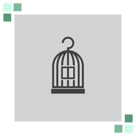 in a cage: Bird Cage vector icon