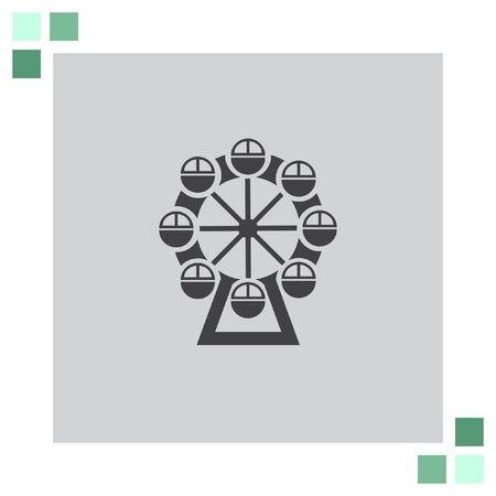 ferris: Ferris Wheel vector icon
