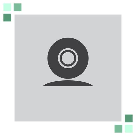 cam: Web Cam vector icon Illustration