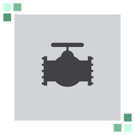 industry: Industry Valve vector icon Illustration