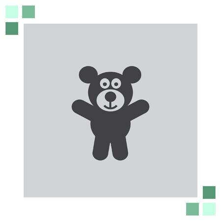 teddy bear vector: Teddy Bear vector icon