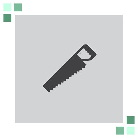 serrucho: Sierra de mano del icono del vector