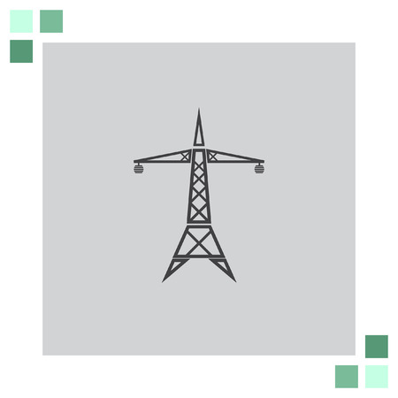 line: Power Line vector icon Illustration