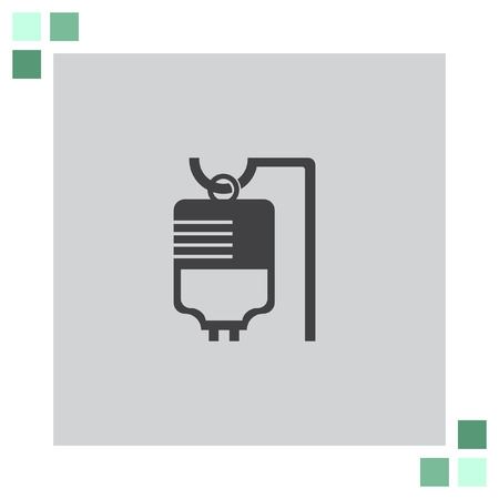 iv bag: IV Bag Medical vector icon Illustration