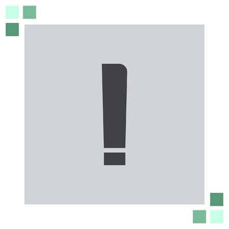exclamation: Exclamation Mark vector icon Illustration