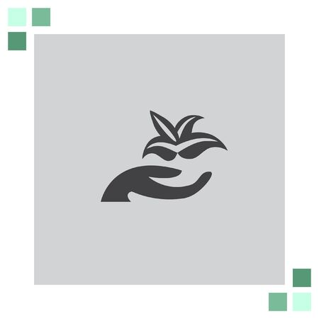 hand holding plant: Hand holding Plant vector icon Illustration