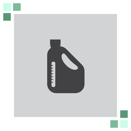 benzine: Jerrycan Oil Can vector icon Illustration