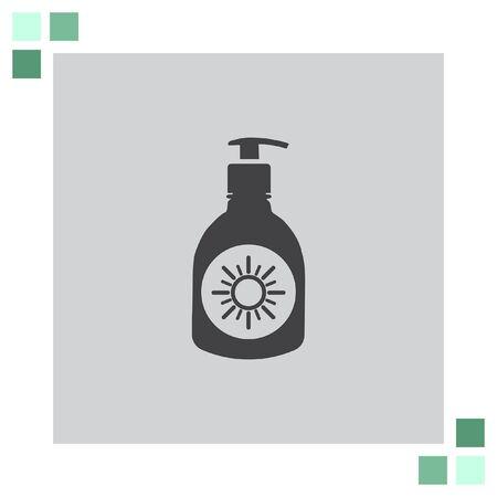 sun lotion: Sun Lotion vector icon Illustration