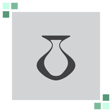greek pot: icone vettoriali Vaso
