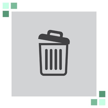 waste basket: Recycle Bin icon empty Illustration