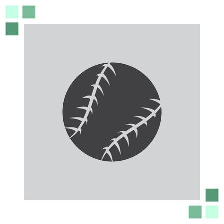 hardball: Baseball vector icon