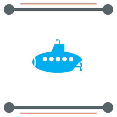 sonar: Submarine vector icon Illustration