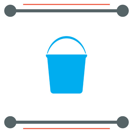 janitor: Water Bucket vector icon Illustration
