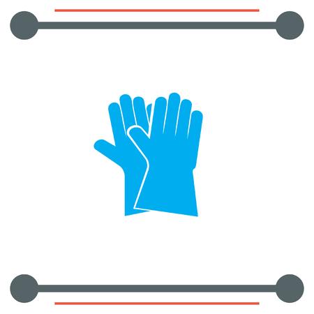 latex: Garden Gloves vector icon