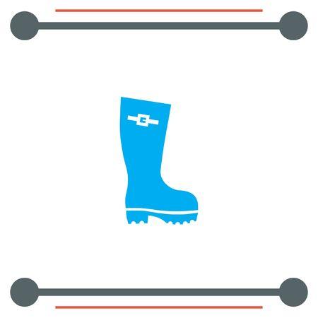 wellies: Rain Boot vector icon