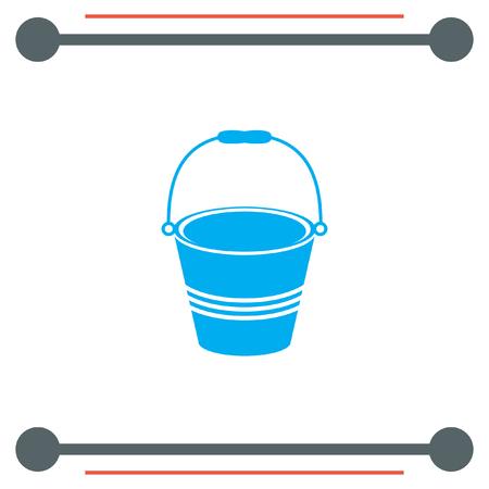 water bucket: Water Bucket vector icon Illustration